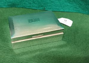 Birmingham Silver Cased Cigarette Case, initialled J.C.K, inscribed Christmas 1955, by Charles S