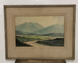 """DOUGLAS ALEXANDER """"On the Road to Louisborough, Co. Mayo"""", 29cm x 46cm, signed, (Goodwin Galleries"""
