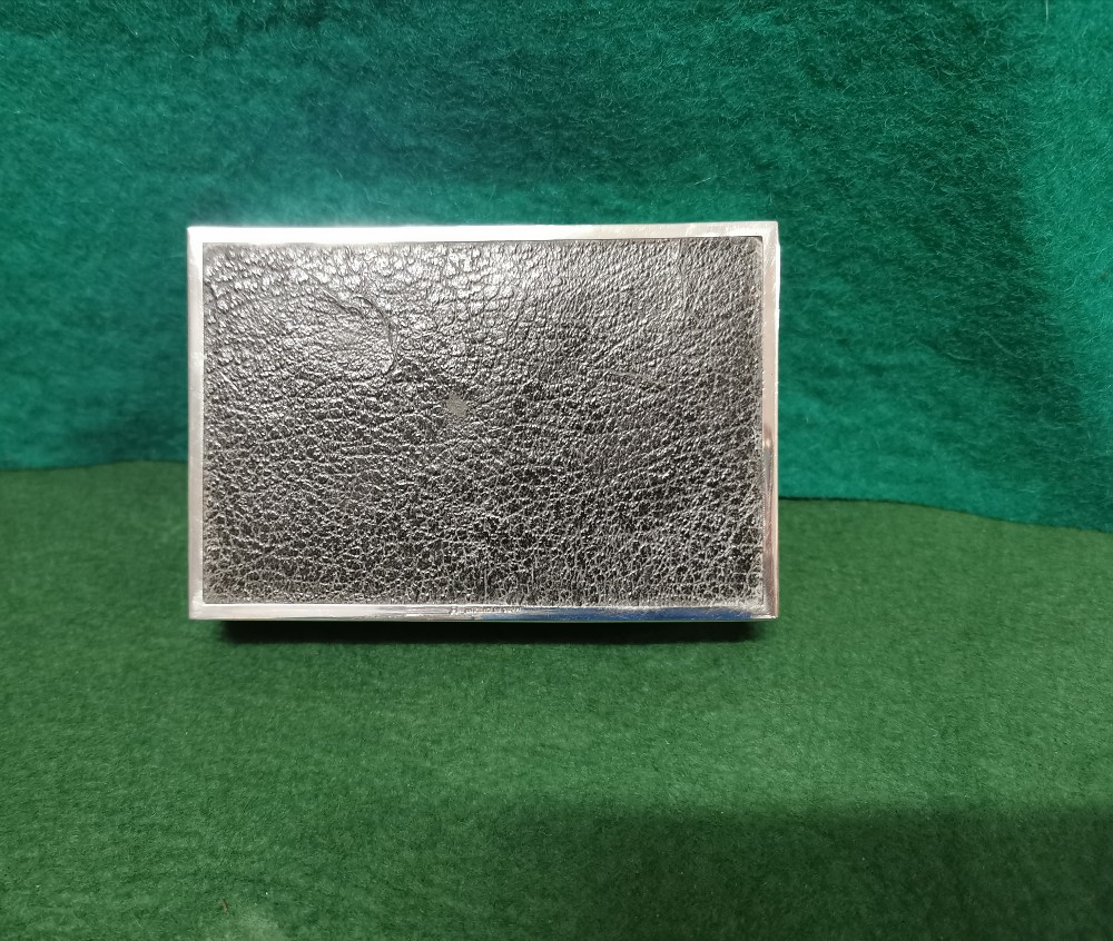 Birmingham Silver Cased Cigarette Case, initialled J.C.K, inscribed Christmas 1955, by Charles S - Image 3 of 3