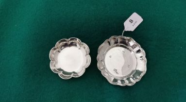 A Birmingham Solid Silver Strawberry Dish by William Adams, 1978 (11cm dia) & a smaller and