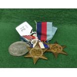 """Two Copper WWII """"Star"""" Gallantry Medals (France and Germany) and a King Edward VIII Coronation Medal"""