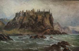 "ALEXANDER WILLIAMS RHA (1846-1930), ""Dunluce Castle"", Co. Antrim, Watercolour (signed by artist,"