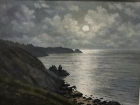 NEVILLE HENDERSON (died 2020), Oil on board – Cliffside and Sea View 35cm x 44cm, signed and dated