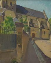 "WILLIAM JOHN LEECH (1881 – 1968), ""The Church of St. Denis, Amboise"", oil on canvas, signed """