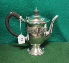 A 1916 Irish Silver Commemorative Tea Pot by B Moynihan Ltd, Dublin 1966, featuring the Ardagh