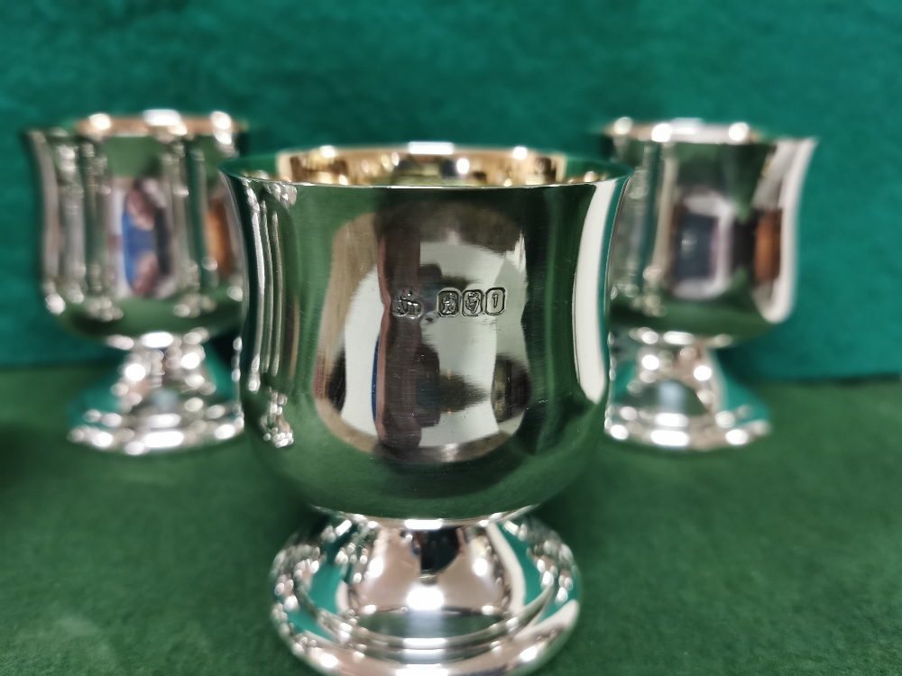 Matching Set of 6 Irish Silver Wine Goblets, each 8cmH x 7cm dia, by Alwright & Marshall (750 - Image 3 of 3