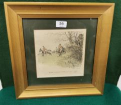 """""""Snaffles"""" (Charles Arthur Payne), signed Etching 19cm x 19cm, Hunting Scene """"The Hairy Old"""