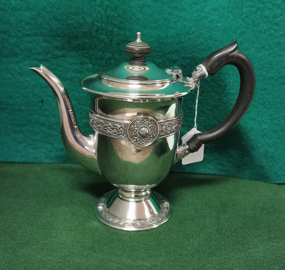 A 1916 Irish Silver Commemorative Tea Pot by B Moynihan Ltd, Dublin 1966, featuring the Ardagh - Image 2 of 4