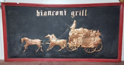 """The Original Sign for the """"Bianconi Grill"""" (1950's), from the Royal Hibernian Hotel Dublin (1751-"""