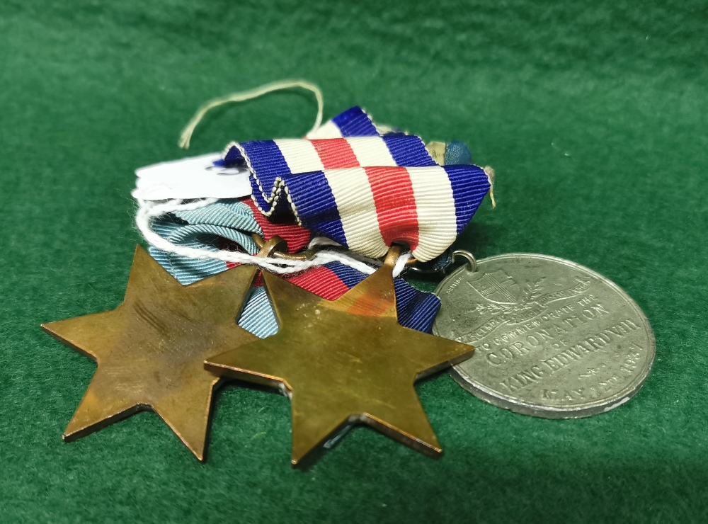 """Two Copper WWII """"Star"""" Gallantry Medals (France and Germany) and a King Edward VIII Coronation Medal - Image 2 of 2"""