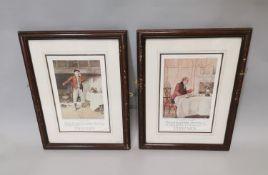 Two Dewar's Whiskey advertising prints.