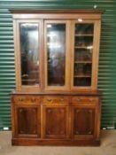 Edwardian inlaid mahogany bookcase.