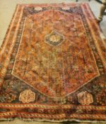 19th C. hand knotted Persian carpet square.