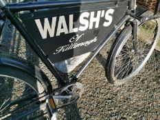 Early 20th C. messengers shop bike.