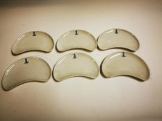 Collection of six ceramic dishes.
