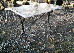 Cast iron garden table.