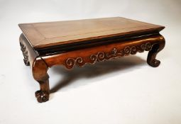 Late 19th C. betook wood opium table.