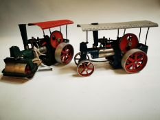 Two early 20th C. metal Steam Engines.