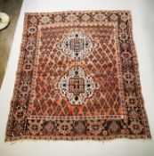 Hand knotted Persian rug.