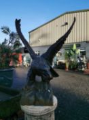 Cast iron model of an Eagle.