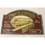 Tho's R. Caffrey Brewer advertising board