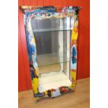 painted glass cabinet.