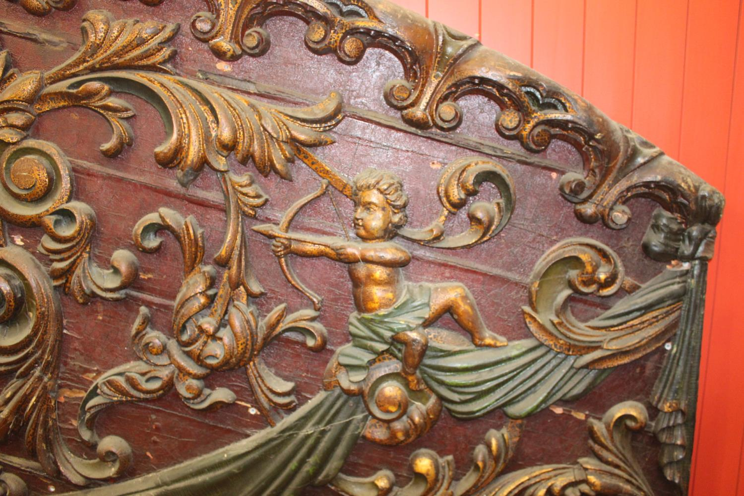 19th C. Two part fairground wagon panel - Image 3 of 3