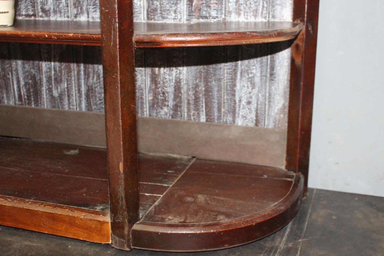 19th C. mahogany bar back. - Image 2 of 2