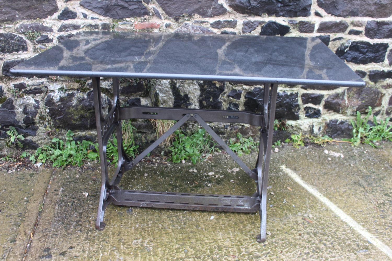 Cast iron Singer machine table