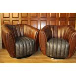 Pair of Dialma tub chairs.