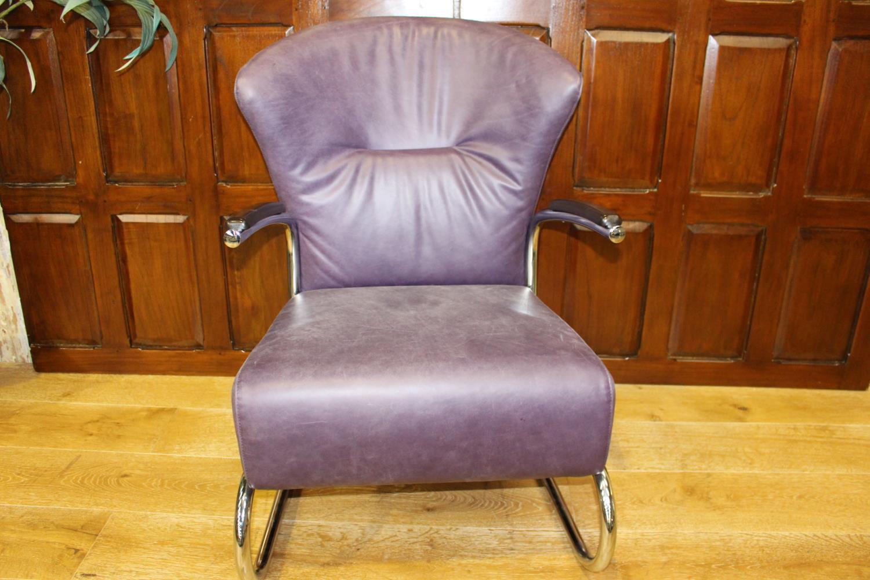 Leather designer chair
