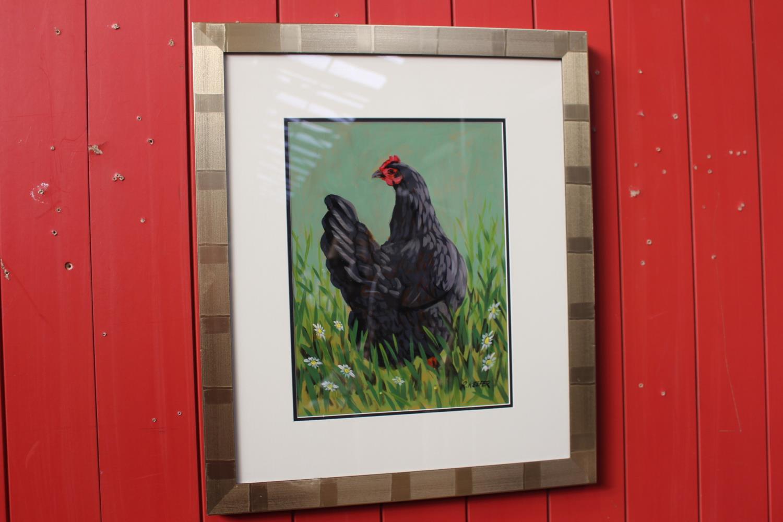 R Keefer - Black Hen - Oil on Canvas