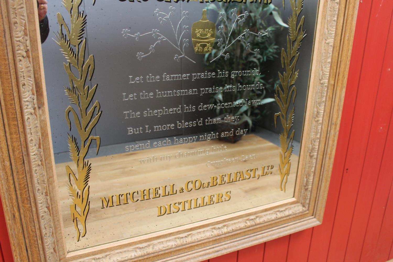 Mitchell's Old Irish Whisky advertising mirror. - Image 3 of 4