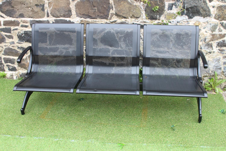 Three seater metal garden seat