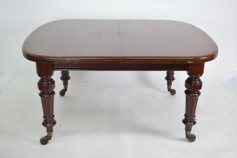 Victorian mahogany dining room table.