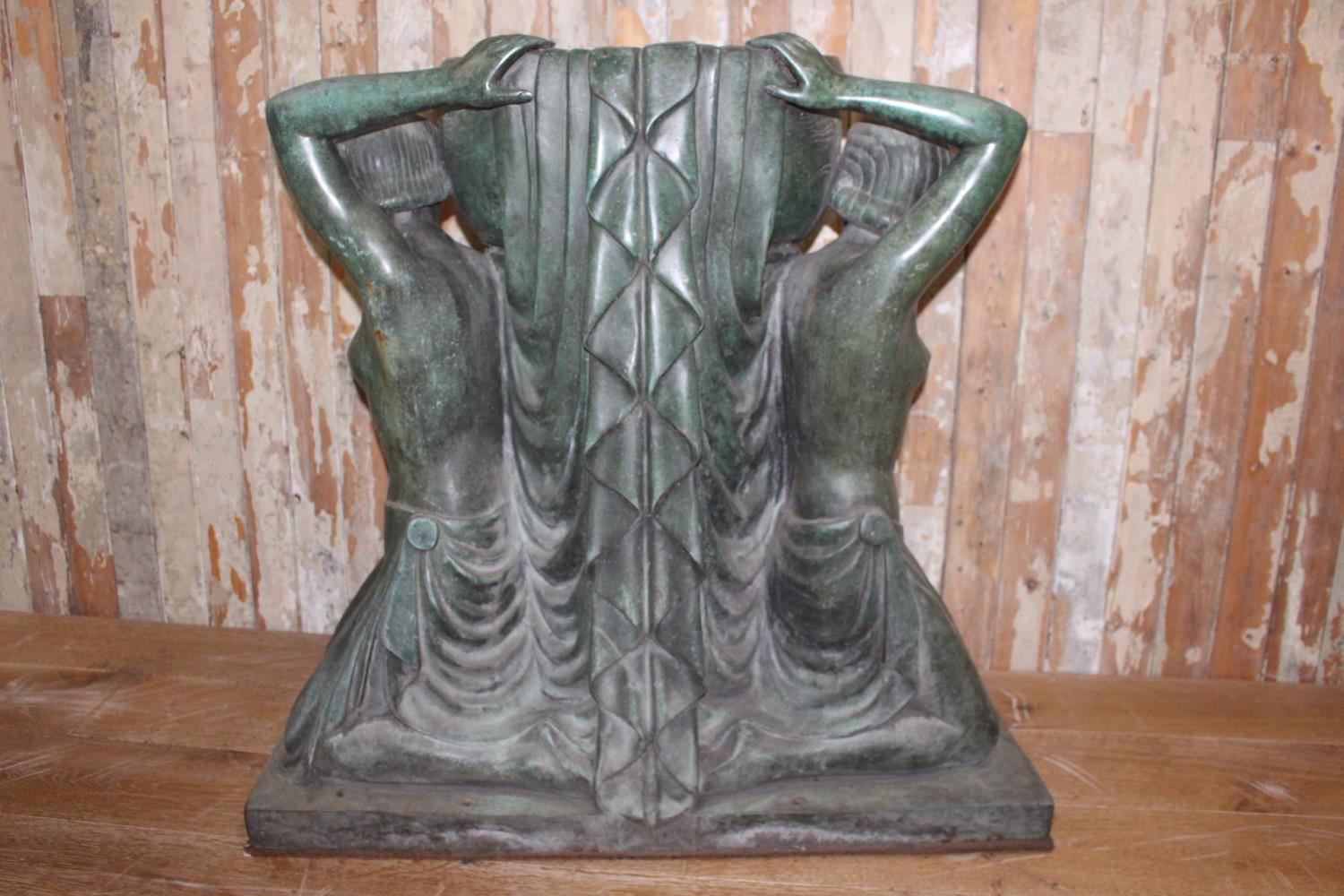 Pair of Bronze urns - Image 3 of 5