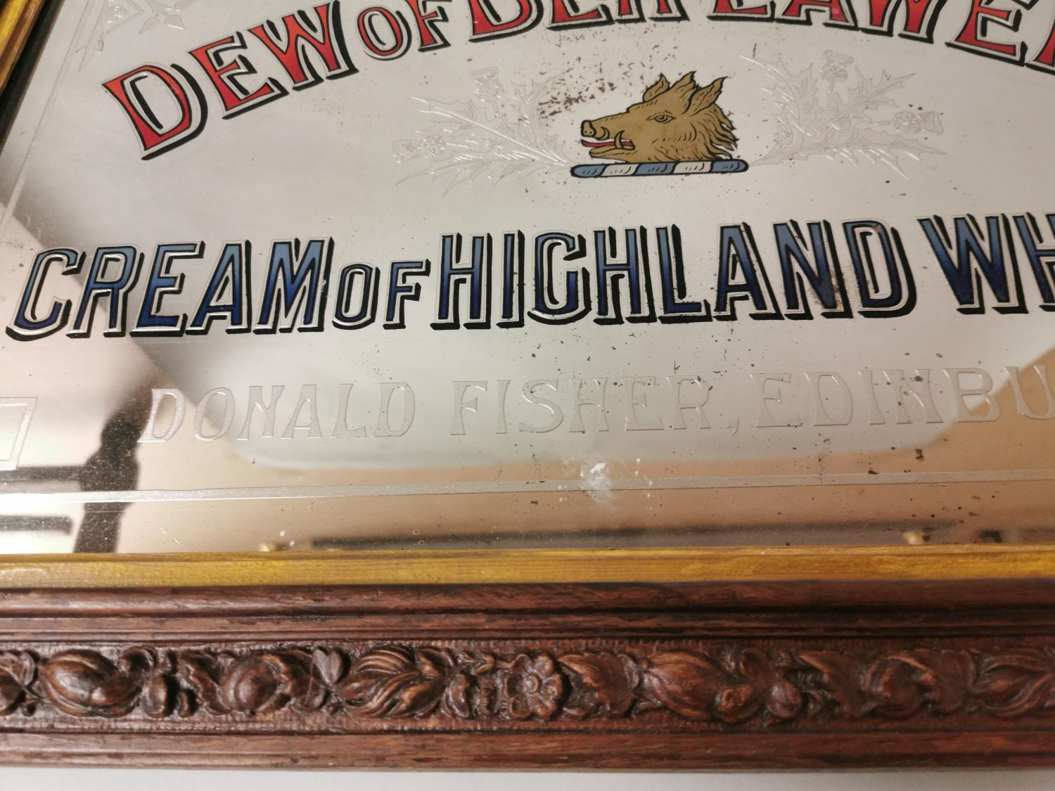 Dew Of Ben Lawers Whisky advertising mirror. - Image 5 of 5