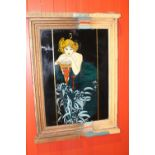 Reverse painted glass picture