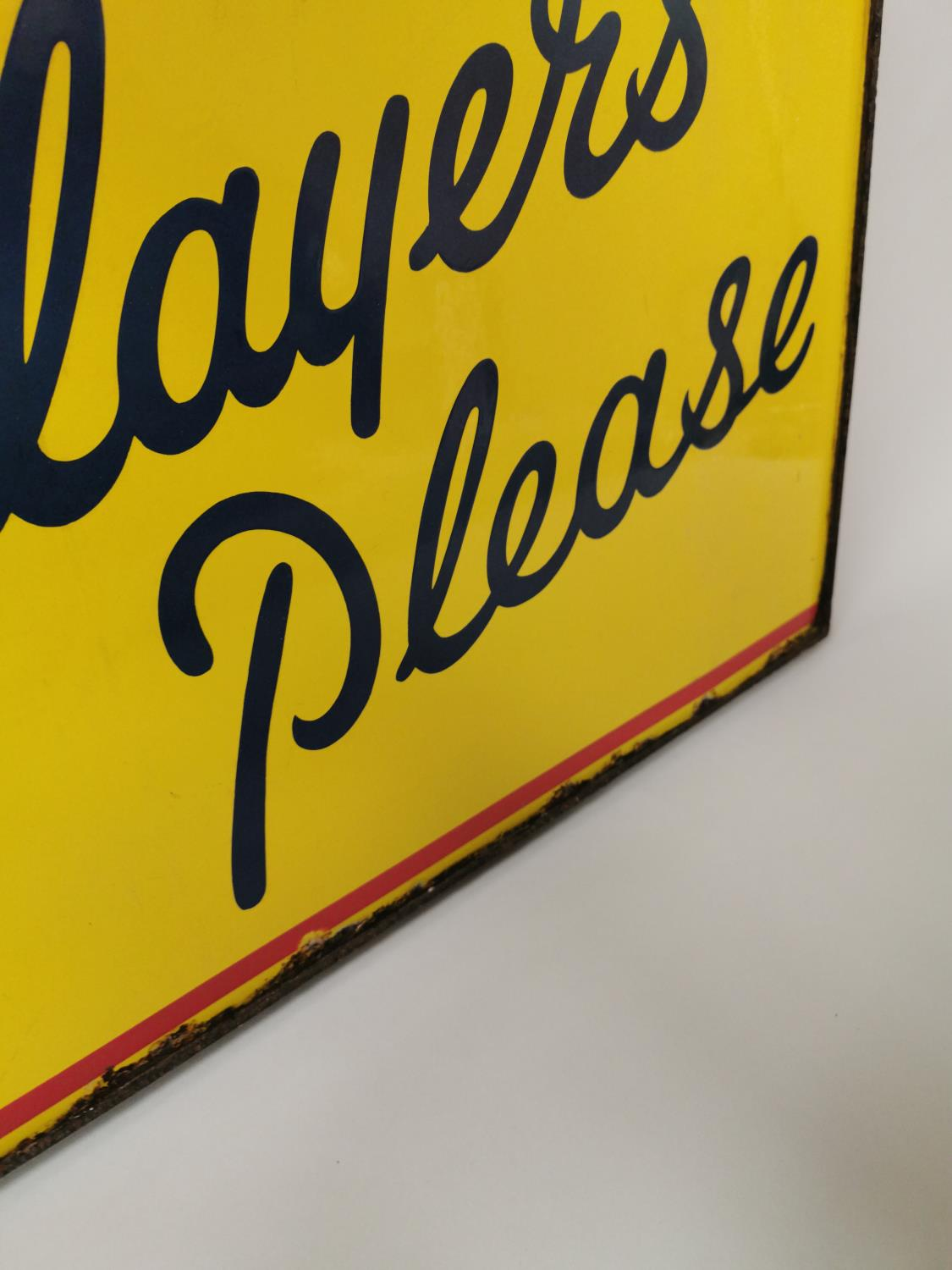 Player's Please enamel advertising sign. - Image 3 of 4