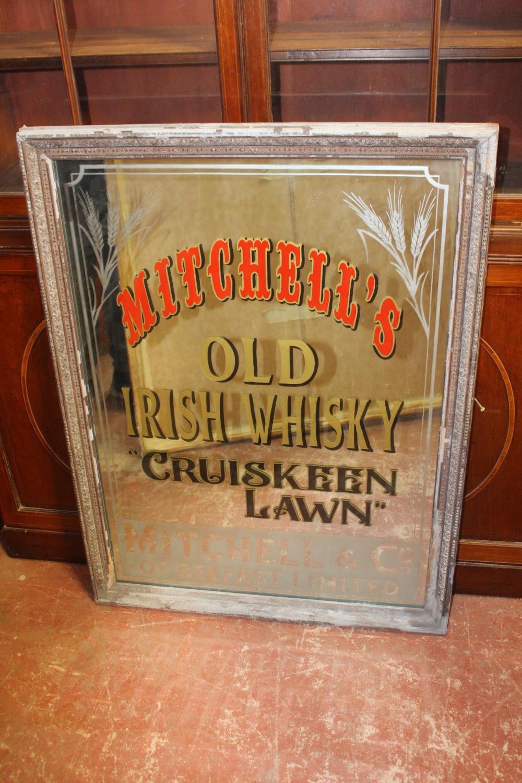 Mitchell's Old Irish Whiskey Cruiskeen Lawn advertising mirror