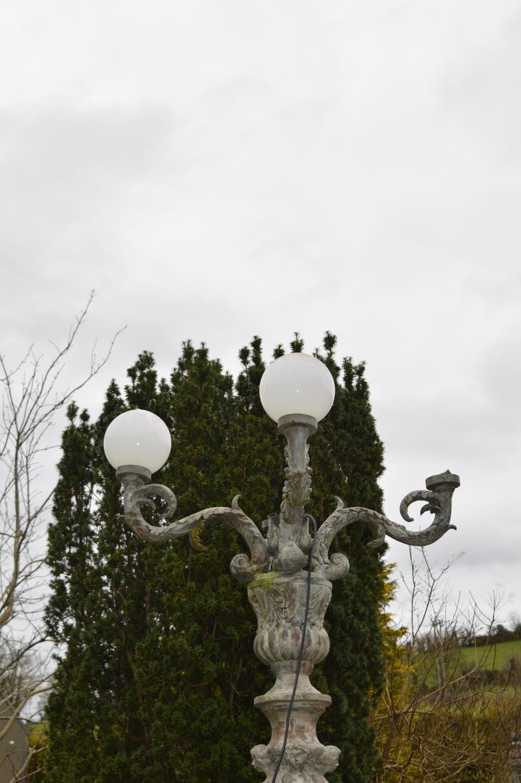 Decorative cast bronze torcehere. - Image 2 of 3