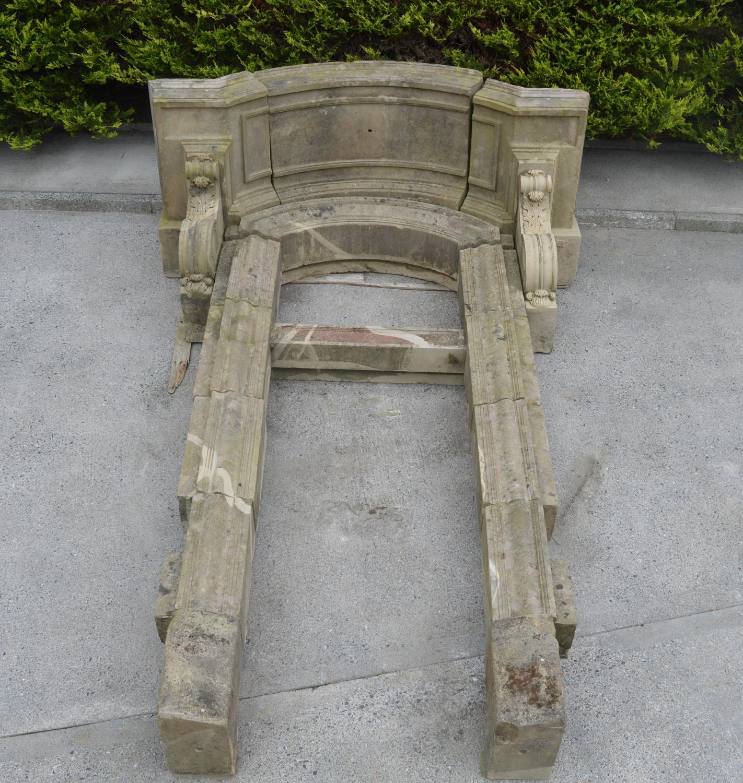 Rare 19th C. sandstone door frame.