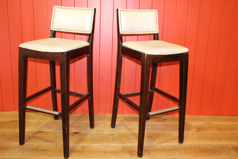 Pair of high back bar stools