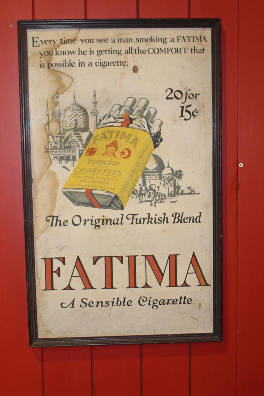 Cigarette advertising print