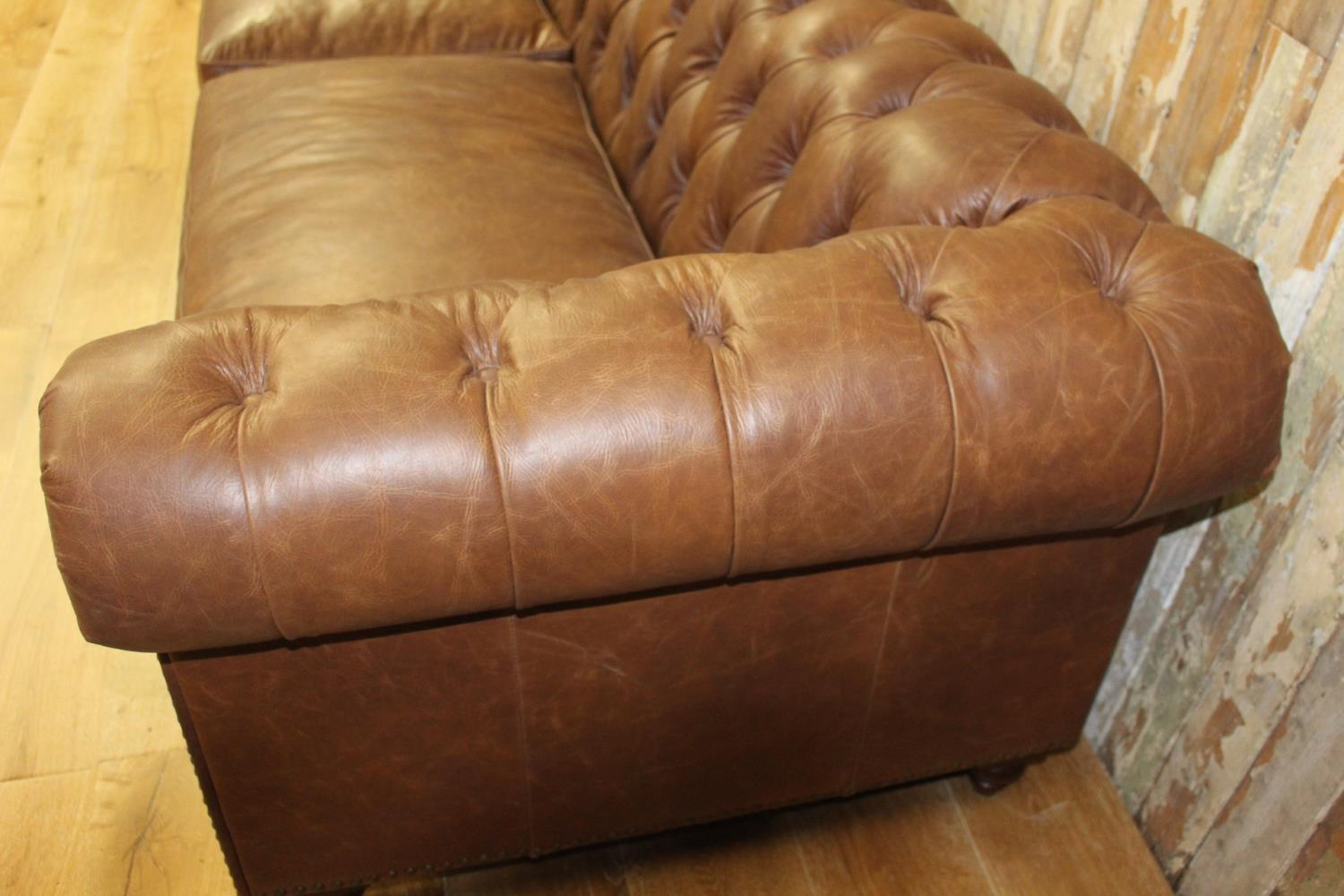 Four seated Chesterfield sofa. - Image 2 of 3