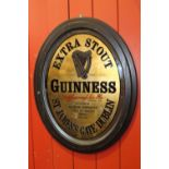 Extra Stout Guinness advertising mirror