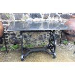 Cast iron Pioneer machine table