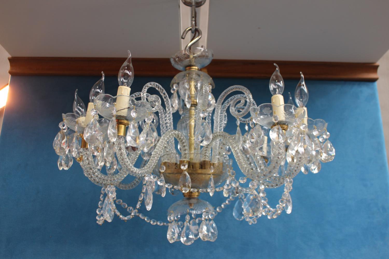 Eight branch chandelier