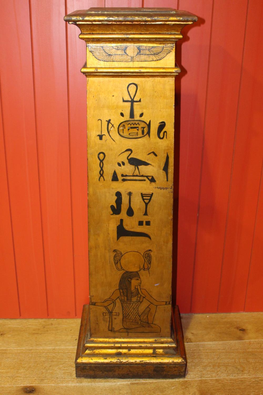 Gilded wooden column