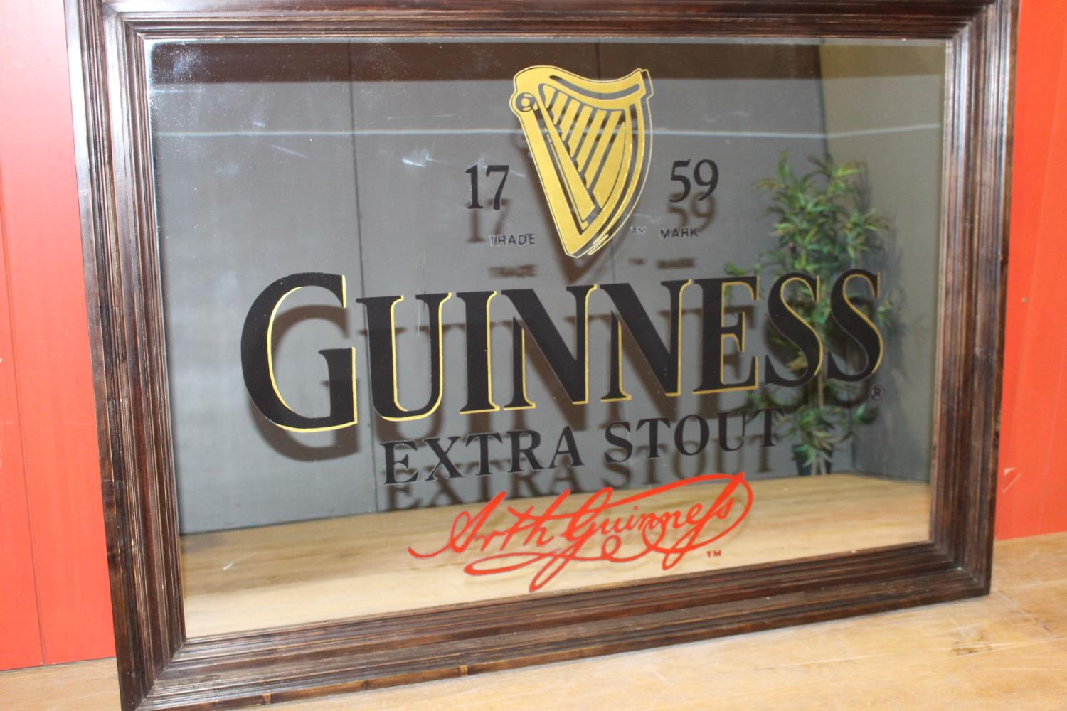 Guinness Extra Stout advertising mirror